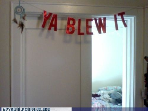 banner goof mistake Party streamers - 5888091392
