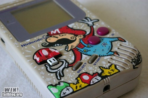 gameboy mario modification nerdgasm nintendo Super Mario bros video games - 5888105216