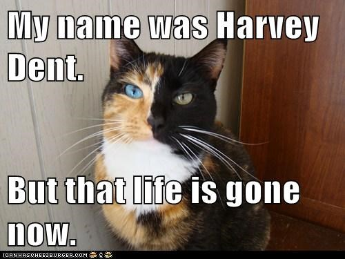 My name was Harvey Dent. But that life is gone now.