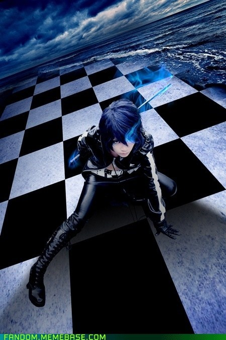 black rock shooter,cosplay,kaito,vocaloid