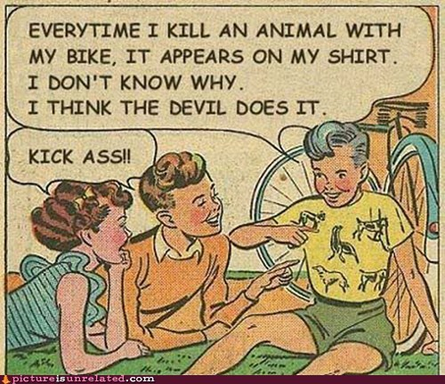 animals,best of week,bike,devil,killing,wtf