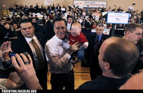 baby crying Mitt Romney politics rally - 5888467200