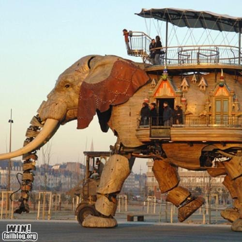 crazy,elephant,huge,robot,transportation