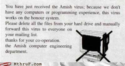 amish funny Hall of Fame low tech virus - 5888545792