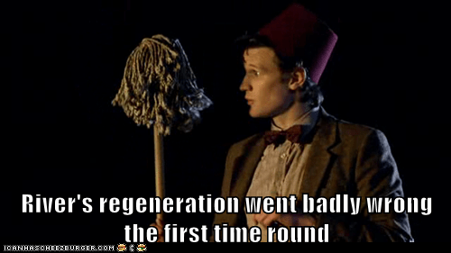 cool doctor who FEZ first time Matt Smith mop regeneration River Song the doctor wrong