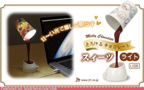 chocolate cool illusion lamp light USB - 5888765440