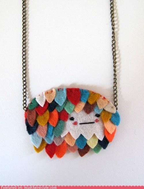 accessories chain face felt Jewelry necklace pendant - 5888798208