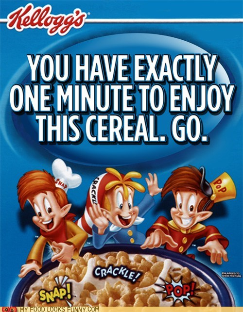 cereal fast label packaging rice krispies soggy