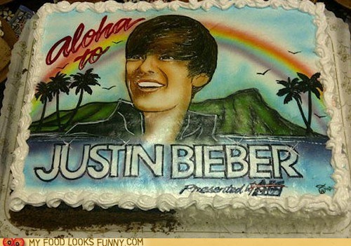 aloha cake exile Hawaii justin bieber - 5888834048