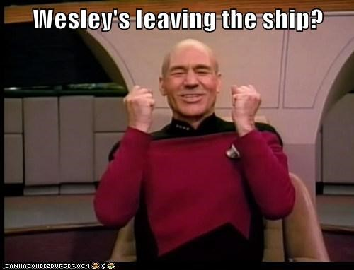 Captain Picard leaving patrick stewart ship Star Trek success wesley crusher - 5888937472
