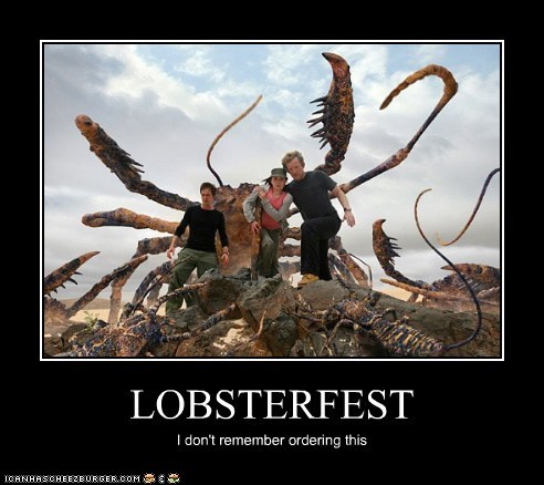 andrew lee potts,connor temple,douglas henshall,lobster,nick cutter,ordering,Primeval