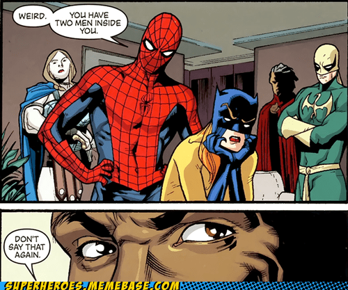 Spider-Man Straight off the Page tactful two men wtf - 5889018624