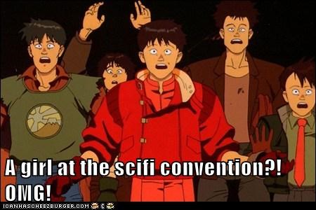 A girl at the scifi convention?!OMG!