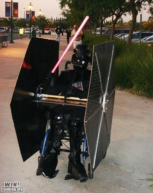 darth vader disabled DIY Hall of Fame modification nerdgasm star wars wheel chair - 5889466112