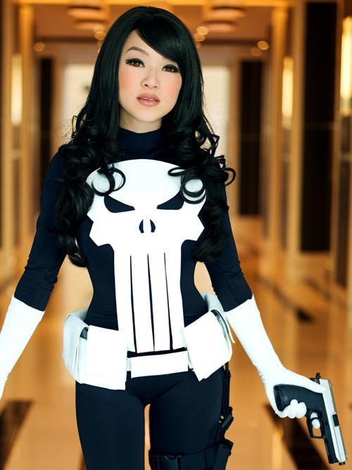 anna fischer,comics,cosplay,cosplay corner,katsucon,Linda Le,punisher