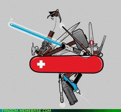Fan Art hammer lightsaber swiss army knife sword - 5889799936