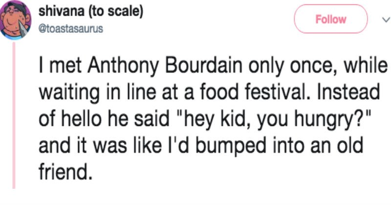 Sad viral videos twitter art heartwarming Anthony Bourdain artist viral trending - 5890053