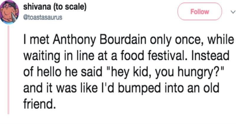Sad viral videos twitter art heartwarming Anthony Bourdain artist viral trending - 5890053