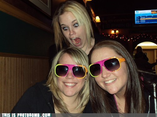 girls glasses huge mouth Impending Doom scary yummy - 5890587136