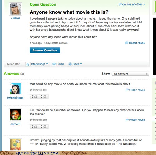 details,movies,the notebook,Yahoo Answer Fails