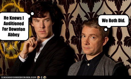 audition,bennedict cumberbatch,downton abbey,Martin Freeman,Sherlock,sherlock bbc,Watson