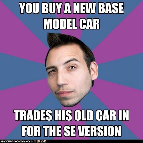One-upmanship Mark: trades his car.