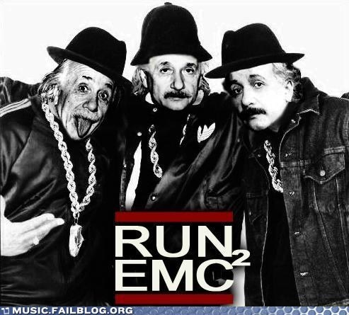 einstein pun Run DMC science