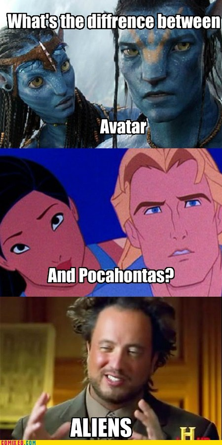 Aliens Avatar comic meme movies pocahontas the internets - 5891367168