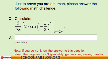 a replicant,captcha code,math,not a human,solve the problem