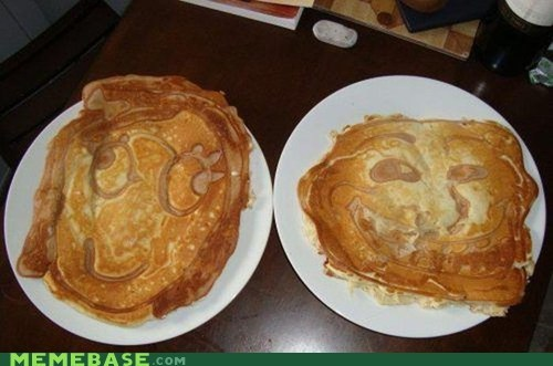 delicious,derp,pancake,The Internet IRL,troll face