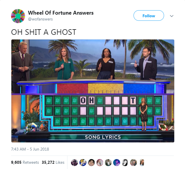 answers twitter wheel of fortune wrong tweets gameshow - 5892357