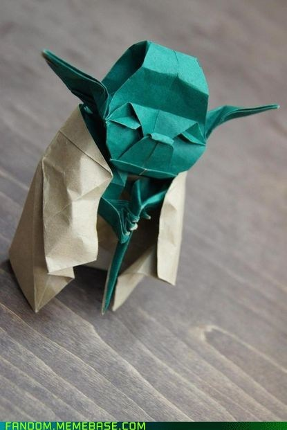 Fan Art,origami,star wars,yoda