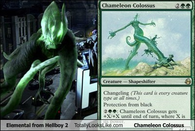 chameleon colossus elemental funny hellboy magic TLL