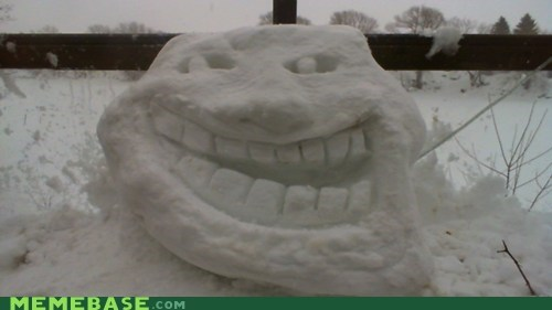 IRL jelly snow troll face - 5893157376