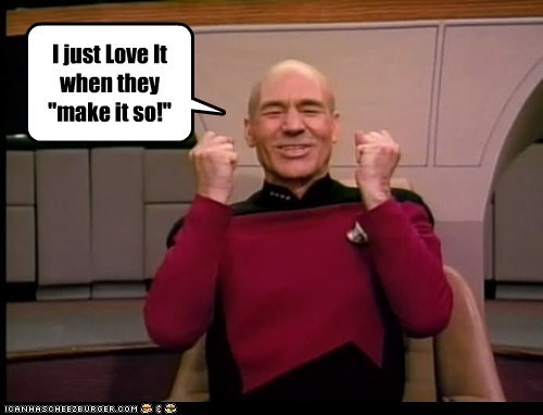 Captain Picard happy love make it so patrick stewart Star Trek - 5893561344