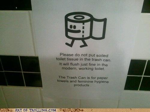IRL pooptimes sign toilet paper - 5893785600