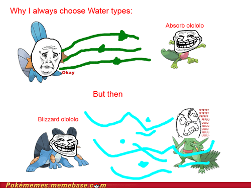 Evolve,gaining types,Rage Comics,sceptile,solarbeam,water types