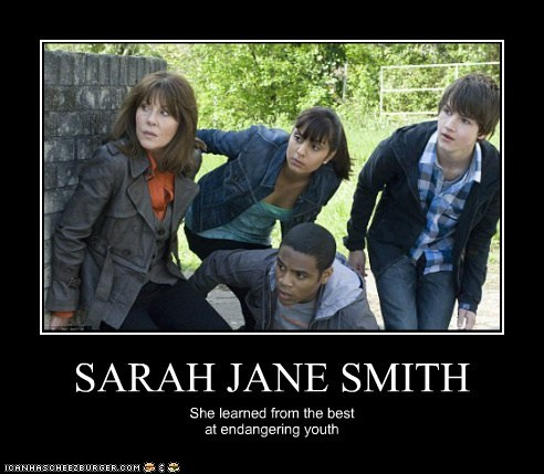 Elisabeth Sladen endangering learned Sarah Jane Adventures sarah jane smith youth - 5894584576