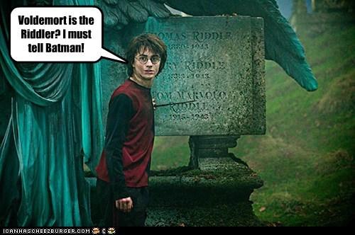 crossover Daniel Radcliffe harry Harry Potter Riddler ultimate voldemort Warner bros - 5894712064