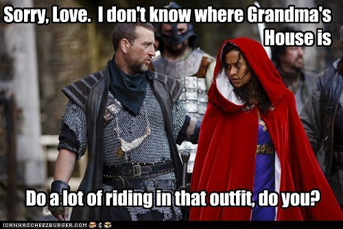 angel coulby grandmas-house gwen lancelot Little Red Riding Hood merlin riding Santiago Cabrera