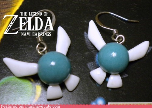 accessories,best of the week,earrings,fairy,Jewelry,legend of zelda,navi