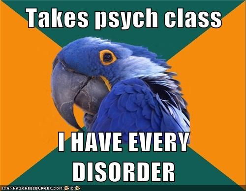disorders hypochondria Paranoid Parrot psychology - 5895414016