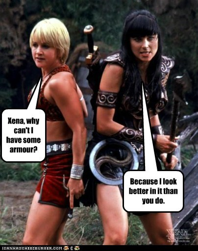 armor gabrielle look better Lucy Lawless renee oconnor Xena Xena Warrior Princess