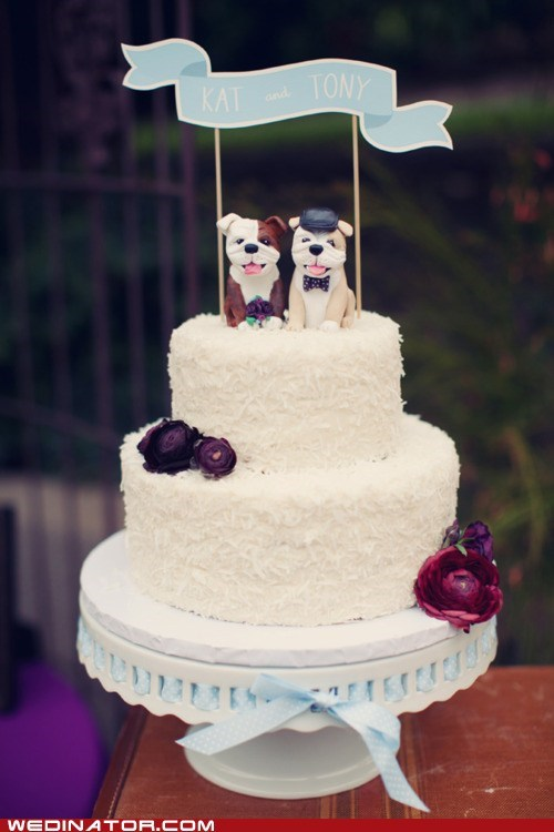 cake,dogs,toppers,bulldogs,banner
