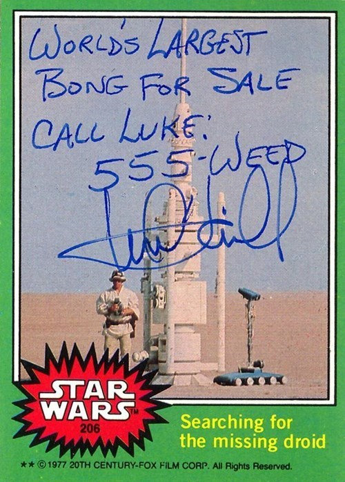 geek star wars autographs funny memorabilia Mark Hamill - 589573