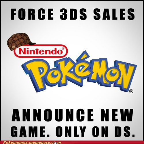 3DS,black and white 2,ds,Game Freak,Memes,scumbag,scumbag nintendo