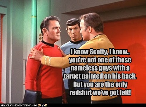 Captain Kirk i know james doohan Leonard Nimoy red shirts scotty Shatnerday Spock Star Trek Target William Shatner - 5895937280