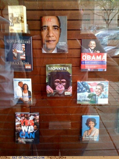 books IRL monkey obama