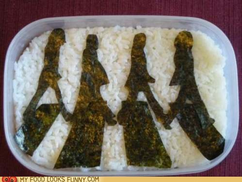 abbey road beatles bento best of the week logo rice seaweed - 5897343488