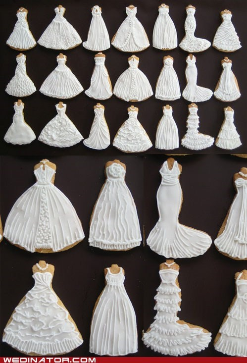 bridal couture cookies funny wedding photos Hall of Fame wedding dresses